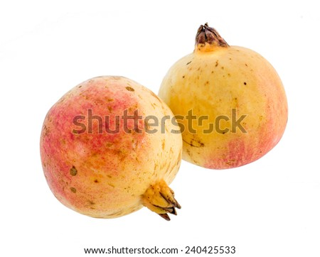 Pomegranates isolated on a white background.