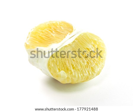 Pomelo (Citrus maxima or Citrus grandis) isolated on white background