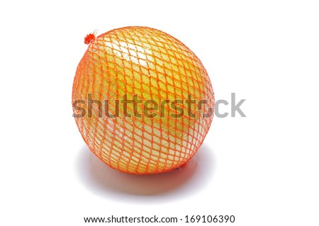 Pomelo fruit packed isolated