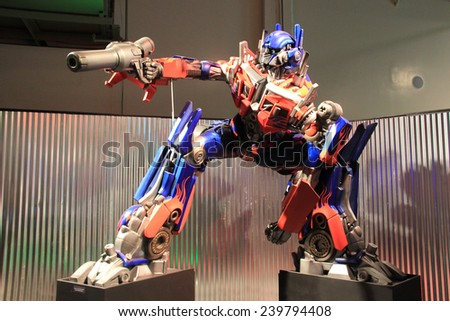 Pomona, California, USA - September 15, 2014: Transformer Model at LA County Fair, one of the fourth largest fair in the United States.  - stock photo