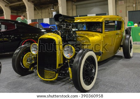 pomona usa march 12 2016 hot rod during 3rd annual street machine
