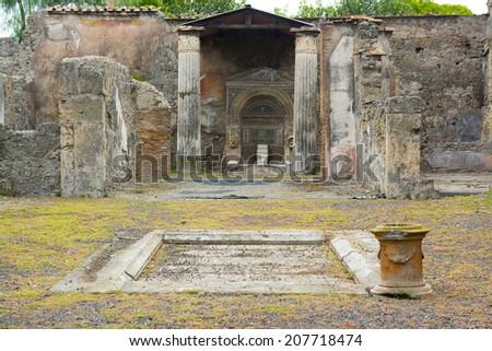 Pompei excavation, Italy - stock photo