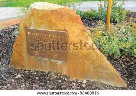 Pompeys Pillar National Monument historic marker - stock photo