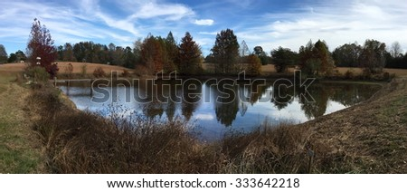 Pond at Cane Creek Canyon Nature Preserve Alabama - stock photo