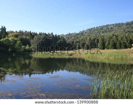 Pond in the mountains of San Diego County, California - stock photo