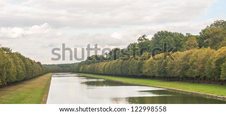 Pond of the Castle Fontainebleau - stock photo