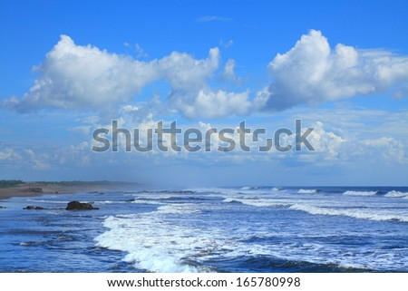 poneloya is a beach located on the Pacific coast of Nicaragua - stock photo