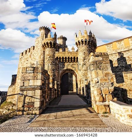 Ponferrada Templar castle, Leon, Spain. XII century  - stock photo