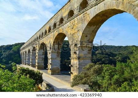 Pont du Gard, France - stock photo