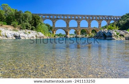 Pont du Gard, South of France, Provence - stock photo