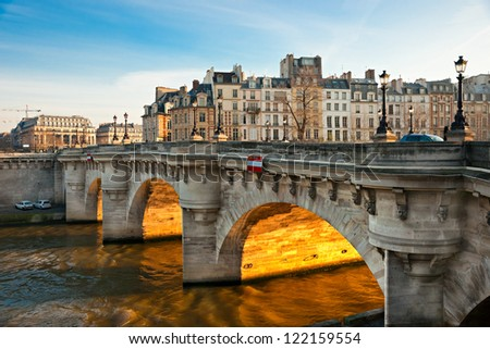 Pont neuf, Ile de la Cite, Paris - France - stock photo