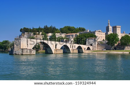 Pont Saint-Benezet in Avignon, France - stock photo