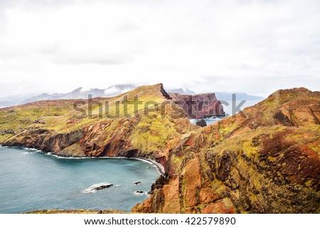 Ponta de Sao Laurenco in Eastern Madeira, Portugal - stock photo
