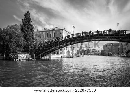 ponte de l'accademia, Grand Canal, Venice, Italy - stock photo