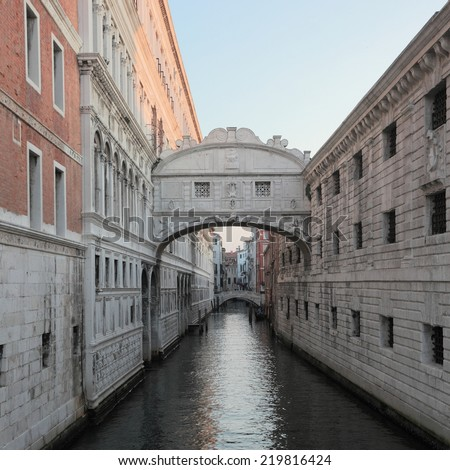 Ponte dei Sospiri (Bridge of Sighs) at Venice