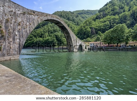 Ponte del Diavolo (Devil's bridge), a great example of medieval engineering, it is one of the most well-known monuments of the province of Lucca