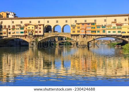 Ponte Vecchio bridge in Florence, Italy - stock photo