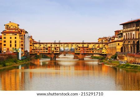 Ponte Vecchio bridge in Florence, Italy. Europe - stock photo