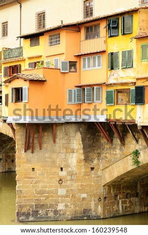 Ponte Vecchio elements, Florence, Italy - stock photo