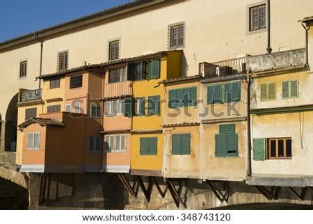 Ponte Vecchio, Florence, UNESCO World Heritage Site - stock photo