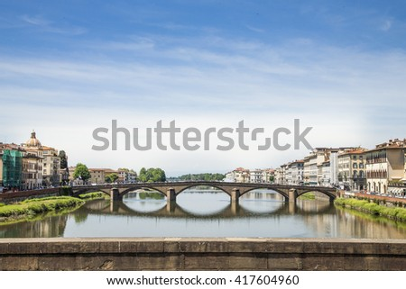 Ponte Vecchio in Florence, Italy, Europe