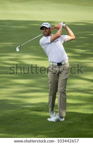 PONTE VEDRA BEACH, FL-MAY 08: Sergio Garcia at The Players Championship, PGA Tour, on practice day May 08, 2012 at The TPC Sawgrass, Ponte Vedra Beach, Florida, USA.