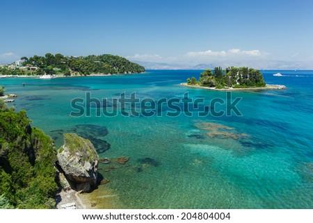 Pontikonisi. Mouse Island Corfu, Greece - stock photo