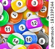 Pool balls sports background. Repeating tileable illustration  - stock photo