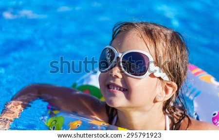 Pool, beach, child.