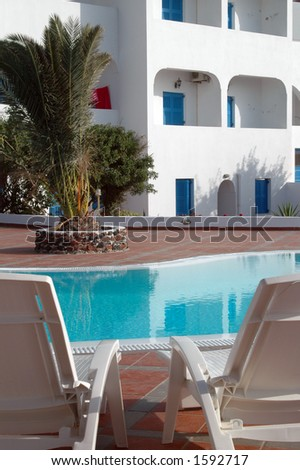 pool by hotel in greek islands