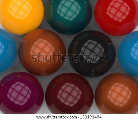 pool close up balls - stock photo