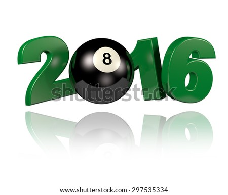 Pool 2016 design with a White Background - stock photo