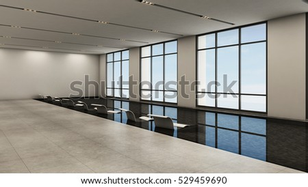 Pool indoor design modern - 3D render