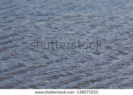 pool of water with the wind making small waves on the surface