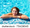 Pool Portrait Posing - stock photo