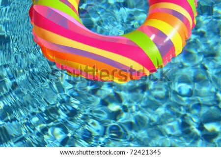 Pool ring / float in swimming pool.