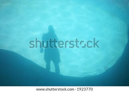 pool shadow - stock photo