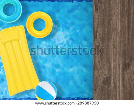 pool side relaxation - stock photo