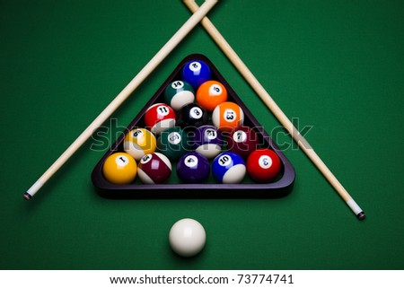 Stock Images Similar To ID 874419 Time To Play Pool Clock Dial