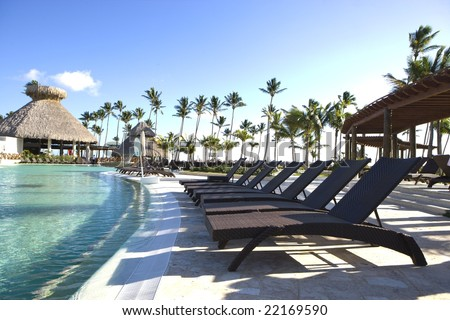 Poolside at Tropical Resort