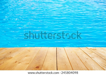 Poolside background - stock photo