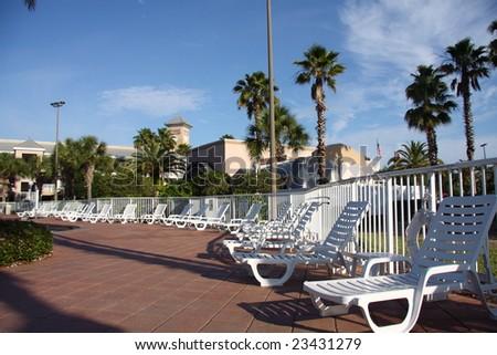 poolside lifestyle - stock photo