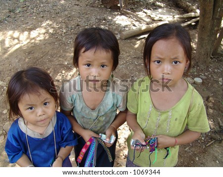 poor hmong children in laos
