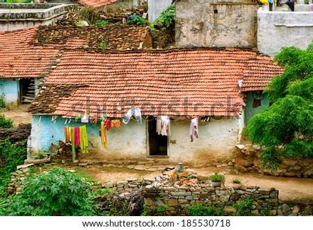 Poor quarter in India - stock photo