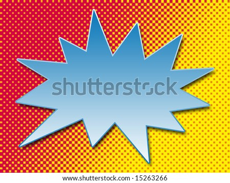 Pop Art Cartoon Bubble - stock photo