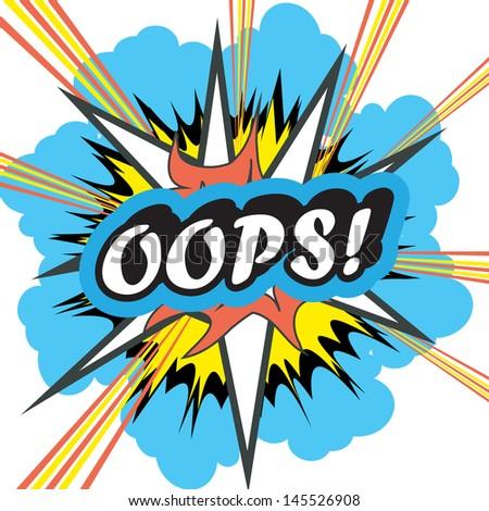 Pop Art explosion OOPS - stock photo