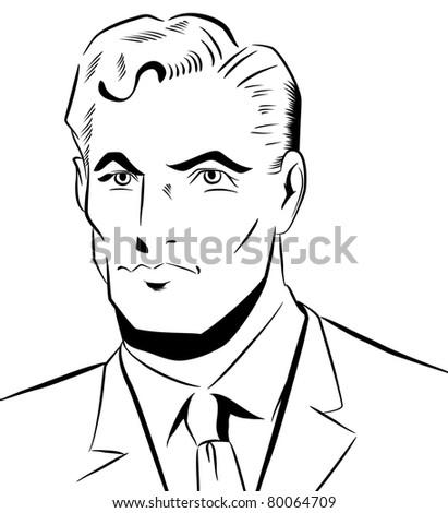 Pop Art Man - stock photo