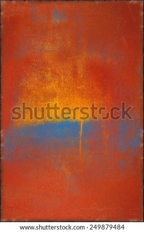 Pop Art Texture with Rusty Seams Along Edges (Part of Colorful Metal Textures set, which includes 12 textures that fit together perfectly to form a huge image) - stock photo