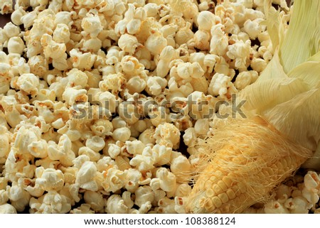 Pop corn and sweet corn