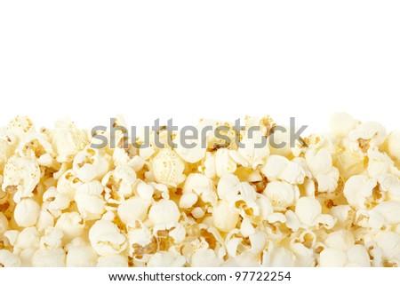 Pop corn border - stock photo